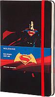 Блокнот Moleskine Batman vs Superman: Superman средний черный  (линейка), фото 1