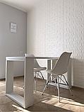 Самоклеющаяся декоративная 3D панель под белый кирпич 700x770x7мм Os-BG01-7, фото 8