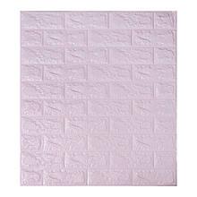 Самоклеющаяся декоративная 3D панель под светло-фиолетовый кирпич 700x770x7мм (Os-BG15)