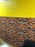 Самоклеющаяся декоративная 3D панель под кирпич песчаник 700x770x6мм Os-CZ06, фото 3
