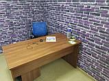 Самоклеющаяся декоративная 3D панель под фиолетовый екатеринославский кирпич 700x770x7мм Os-CZ-01-5, фото 4