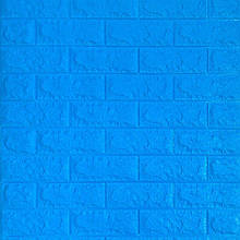 Самоклеющаяся декоративная 3D панель под синий кирпич 700x770x7мм Os-BG09