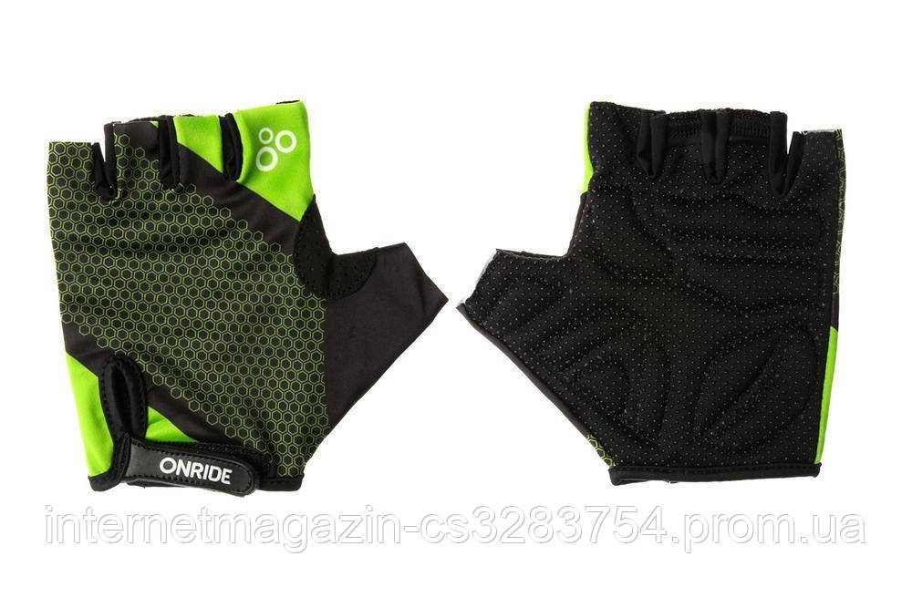 Рукавички велосипедні OnRide TID L Black-Light Green (2956563230128 )