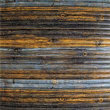 Самоклеющаяся декоративная 3D панель бамбук серо-коричневый 700x700x8мм, Os-BM11-5