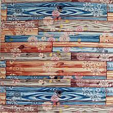Самоклеющаяся декоративная 3D панель бамбук цветы 700x700x8мм, Os-BM11-5