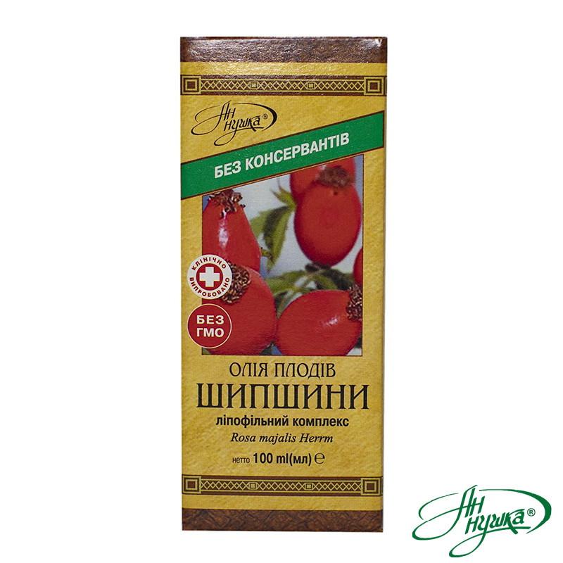 Масло плодов шиповника, липофильный комплекс, 100 мл, общий каротин не менее 20 мг%