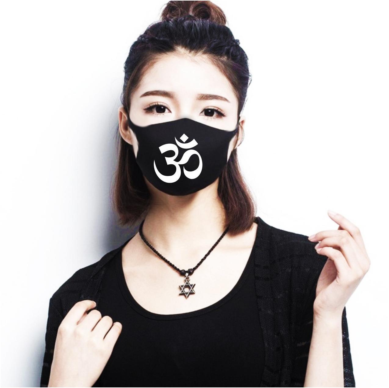 Многоразовая (респиратор) защитная маска на лицо с принтом