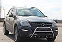 Кенгурятник з грилем (захист переднього бампера) Mercedes ML (W164) 2006-2011, фото 3