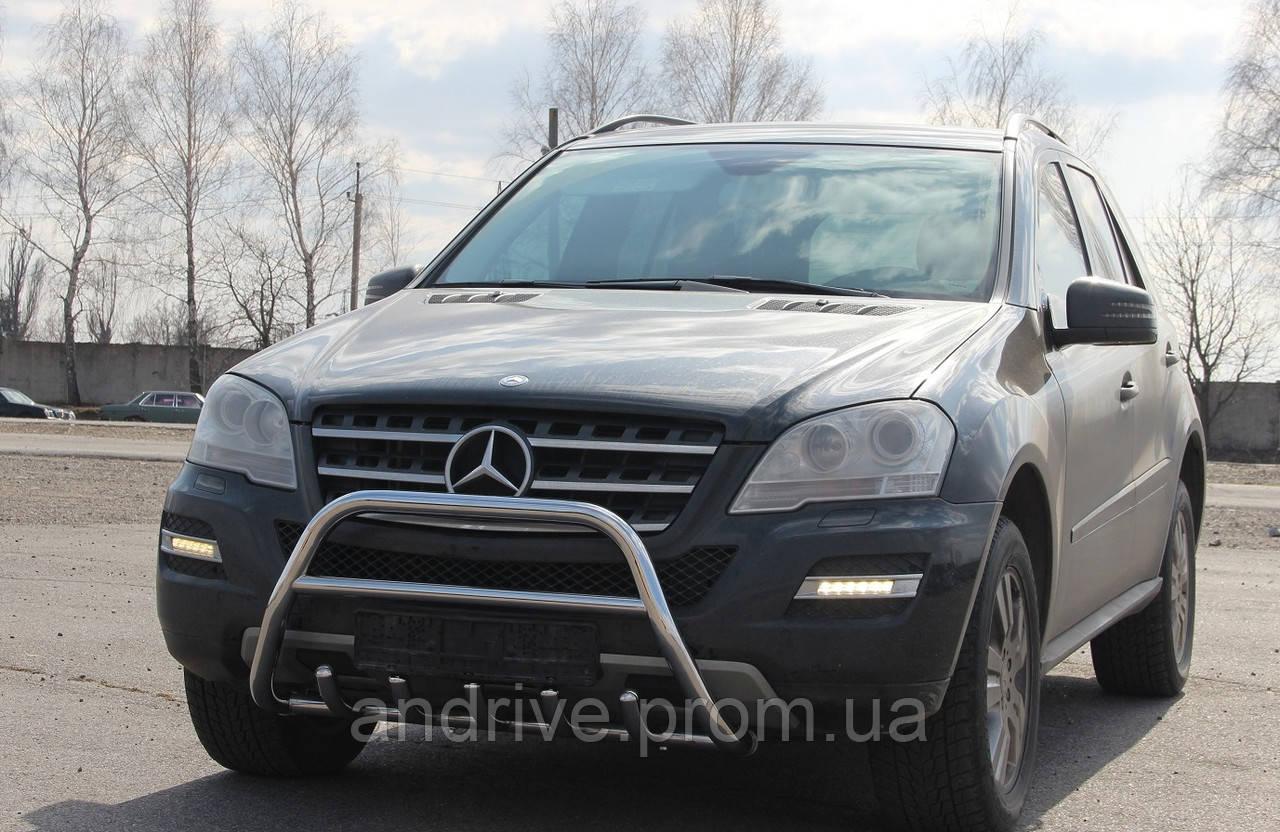 Кенгурятник з грилем (захист переднього бампера) Mercedes ML (W164) 2006-2011