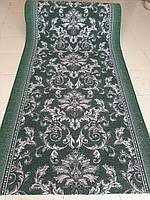 Ковровая дорожка  на войлоке зеленая 1м 1,5м