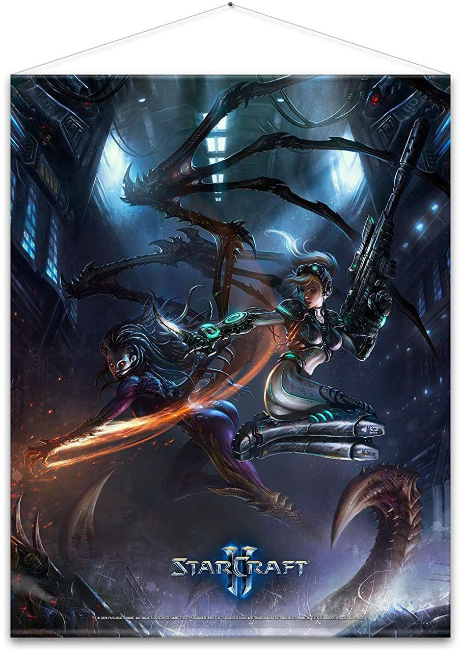 Гобелен Gaya Starcraft Wallscroll - Kerrigan and Nova