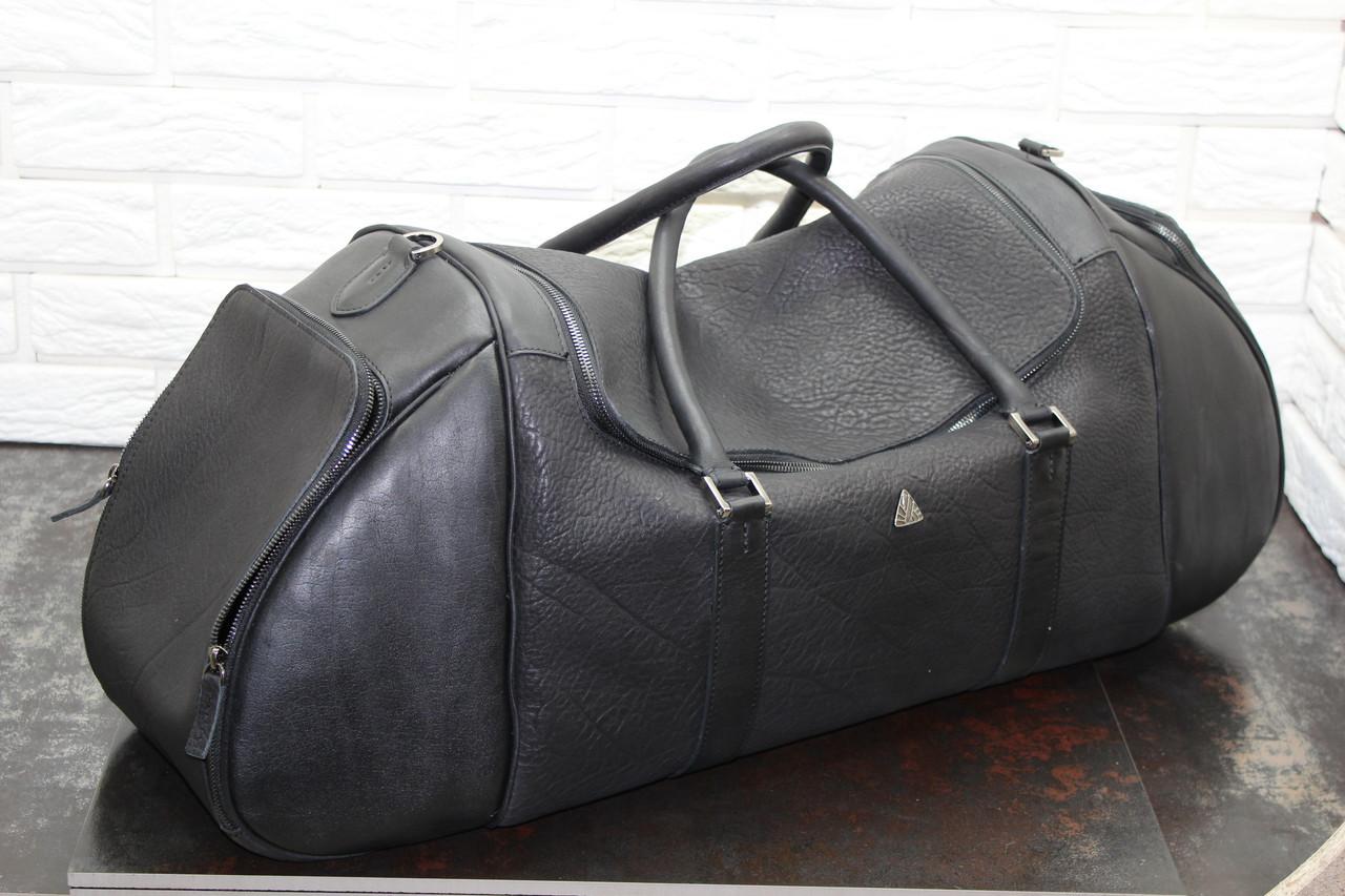 Спортивная сумка из натуральной кожи  Черный 40117