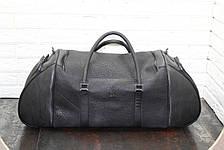 Спортивная сумка из натуральной кожи  Черный 40117, фото 2