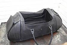 Спортивная сумка из натуральной кожи  Черный 40117, фото 3