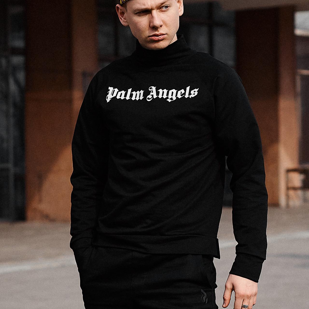 Свитшот мужской Palm Angels Neck черный