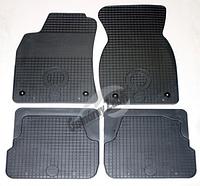 Резиновые ковры Ауди А6 с 1997⇒/  цвет: серый