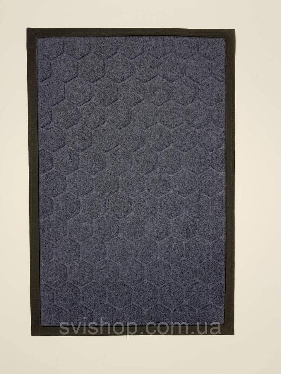 Придверний килимок 40х60 см. (сірий)
