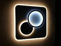 Люстра квадратная светодиодная на пульте 6008-5 WT+GRY 120W