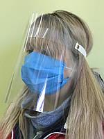 Защитный экран маска щиток для лица. Пластиковая защитная маска-щиток., фото 1