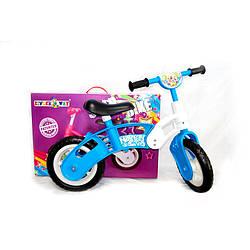 Беговел детский Kinderway 11-012 StarBike EVA колеса бело-голубой