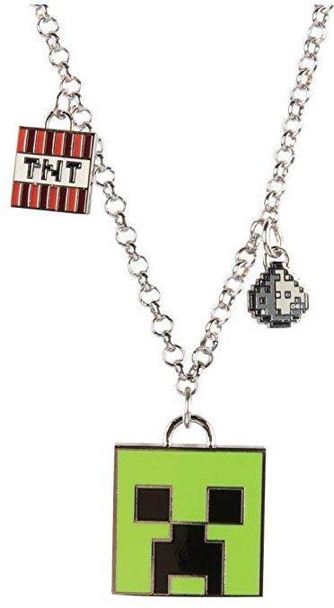 Медальон JINX Minecraft - Enchanted Creeper Necklace