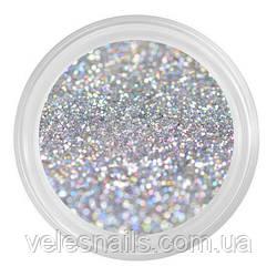 Глиттерный пісок для нігтів голографічного срібло
