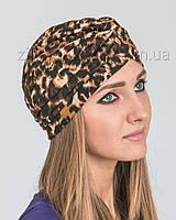 Шапка тюрбан леопардовый