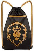 "Сумка JINX World of Warcraft Alliance Loot Bag 15"", Black/Yellow"