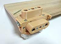 Г-образный универсальный кондуктор 16/18 под шкант, конфирмат с микрорегулировкой и прижимом