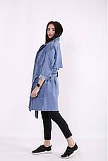 Куртка плащ-тренч джинсовый женский большие размеры 42-74, фото 2