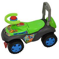 Детская машина КаталкаKinderway 11-003 Динно салатовая звуковые эффектыисвет фар