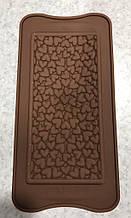 Силіконова форма для шоколаду Сердечка