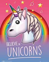 Постер GB eye Emoji Poster - I Believe In Unicorns (MP2067)