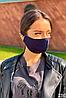 Багаторазова захисна маска для обличчя (Графіт/салатовий), фото 7