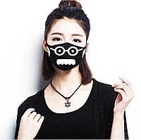 Многоразовая (респиратор) защитная маска на лицо с принтом Морда