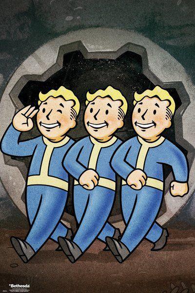 Постер GB eye Fallout 76 Poster - Vault Boys (FP4721)