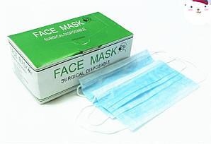 Медицинские маски трехслойные 50 шт. упаковка