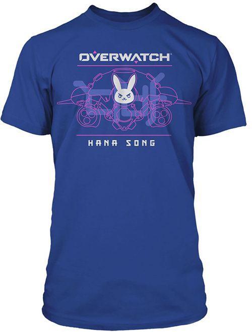 Футболка JINX Overwatch - Battle Meka D.Va Premium Tee Royal Blue,  L