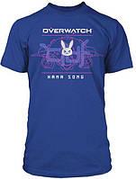 Футболка JINX Overwatch - Battle Meka D.Va Premium Tee Royal Blue,  L, фото 1
