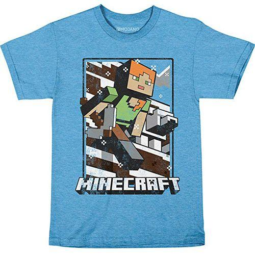 Футболка JINX Minecraft - Vintage Tundra Explorer Light Blue, Youth M