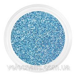 Глиттерный пісок для нігтів блакитний