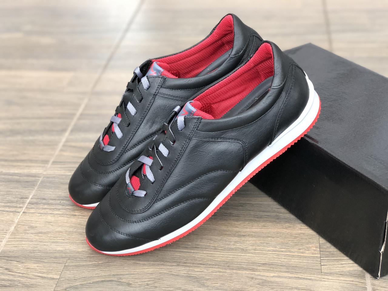 Кроссовки мужские кожаные MIDA 110867 ч размеры 43,45