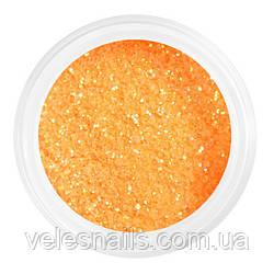 Глиттерный пісок для нігтів яскравий помаранчевий