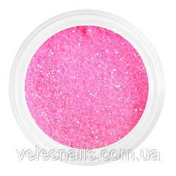 Глиттерный пісок для нігтів рожевий
