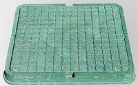 Люк квадратный (пластиковый, зеленого цвета)