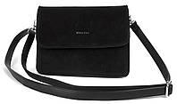 Жіноча стильна шкіряна замшева сумка WEILIYA art. 964 Туреччина чорна, фото 1