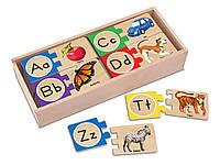 """Дерев'яні пазли в коробці """"Алфавіт"""" Melissa&Doug (MD12541)"""
