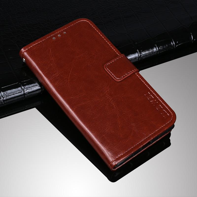 Чехол Idewei для Xiaomi Redmi K20 / K20 Pro книжка с визитницей темно-коричневый