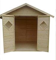 Садовый дачный домик с окнами для инвентаря, инструмента, техники деревянный, из дерева