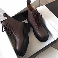 Женские натуральные кожаные ботинки в премиум качестве Bottega Veneta